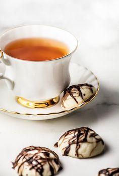 Chocolate Peppermint Meltaway Cookies