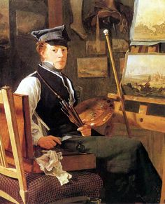 The Painter Christian Holm by Wilhelm Bendz (Danish 1804-1832)
