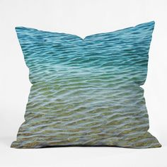 Shannon Clark Ombre Sea Throw Pillow