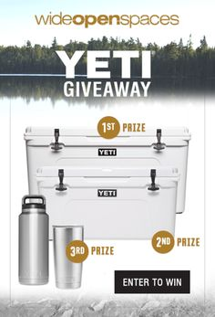 $1000 YETI Giveaway - 3 Winners! {US} (4/20/2017) via... IFTTT reddit giveaways freebies contests