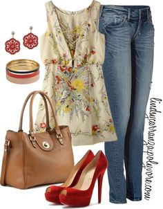 Spring outfit on Polyvore