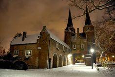 East Gate Delft, Holland, The beauty of snow by Lennert van den Boom, via Flickr