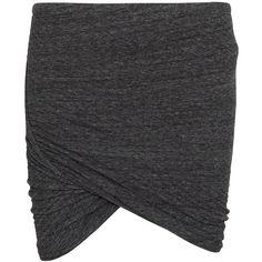 Isabel Marant Etoile Nuta draped skirt ($98) ❤ liked on Polyvore