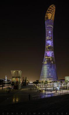 Futuristic Architecture, Amazing Architecture, Architecture Design, Dubai Tourist Spots, Qatar Travel, Dubai Vacation, Qatar Doha, World Cities, Water Tower