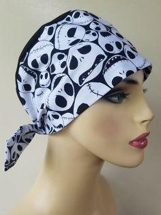 Scrub Caps, Jack Skellington, Tie Backs, Hats For Women, Scrubs, Pixie, Awesome, Cute, Fabric