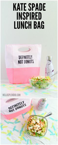 Totally making this!! DIY Kate Spade Inspired Lunch Bag from Hello Splendid | DIY Kate Spade | Custom Lunch Bag with Cricut | from Hello Splendid www.hellosplendid.com