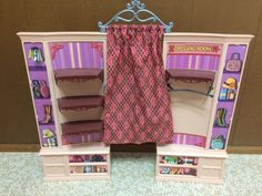 Barbie Doll My Scene Boutique Accessory Shop Store Shelf Dressing Room Furniture #Mattel