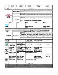 CUSTOM - Common Core Lesson Plan Template with drop down standards 1st-5th