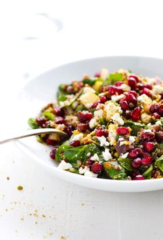 Winter Rainbow Quinoa Salad with Pomegranate Recipe