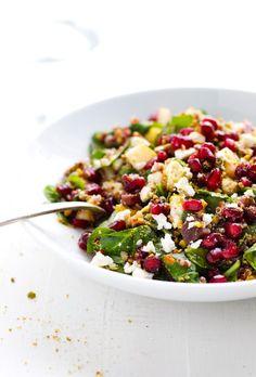Winter Rainbow Quinoa Salad with Pomegranate Recipe