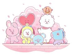 Ideas Cookies Bts For 2019 Bts Chibi, Fanart Kpop, Walpapers Cute, Jimin, Bt 21, Bts Drawings, Line Friends, Album Bts, Bts Group