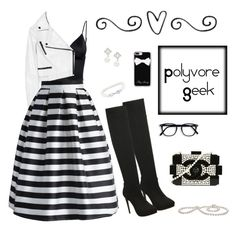 """""""Polyvore geek"""" by dory-speaks-whale ❤ liked on Polyvore featuring T By Alexander Wang, Proenza Schouler, Chicwish, Casetify, Chanel, Nadri and Belk & Co."""