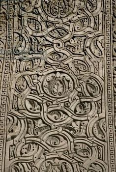 Ibn Tulun Mosque, decorative pattern, from the intrados of the arches, built 876-79 AD (stucco)