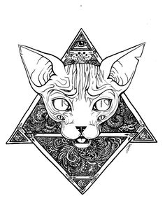 egyptian sphinx cat tattoo - Buscar con Google