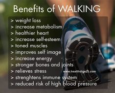Amazing Health Benefits Of Walking Health Benefits Of Walking, Walking For Health, Walking Exercise, Health And Wellness, Health Tips, Health Fitness, Wellness Fitness, Fitness Facts, Health Facts