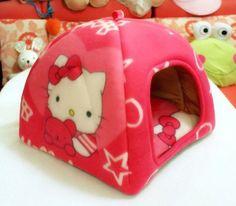 P.L Hello Kitty Soft Sponge Strawberry Small Cotton Soft Dog Cat Pet Bed House S/m/l/xl (42x42x42cm) - http://www.thepuppy.org/p-l-hello-kitty-soft-sponge-strawberry-small-cotton-soft-dog-cat-pet-bed-house-smlxl-42x42x42cm/