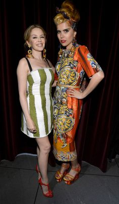Kylie Minogue and Paloma Faith at Dolce & Gabbana New York store opening