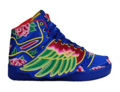 Mens Adidas JS Wings CNY Chinese New Year Jeremy Scott Cobalt White Q21475 | eBay