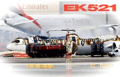 An Emirates plane has crash-landed at Dubai International Airport and caught fire. All 300 people on board were able to escape from the burning aircraft, but a firefighter was killed tackling the blaze.