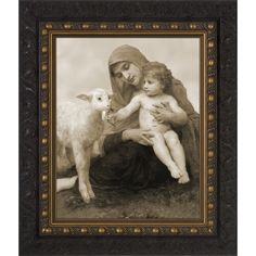 Virgin and the Lamb Picture*Classical Catholic Art This beautiful work shows the Blessed Mother Mary holding little Jesus, the Lamb of God who takes away the sins of the world, with a tiny lamb beside them. What reflections did Mary contempl Lamb Pictures, Blessed Mother Mary, Pictures Online, Catholic Art, Get Directions, Creatures, God, Painting, Beautiful