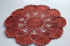Crochet doily, Round crochet doily, Handmade doily, pumpkin doily, crochet lace doily, Crochet table decoration ♡