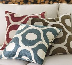 yummy new pillow from Pottery Barn's Fall Preview...Carmen Velvet Pillow Cover #potterybarn