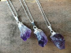 Raw Amethyst Necklace Layering Necklace Layer by EliteStone