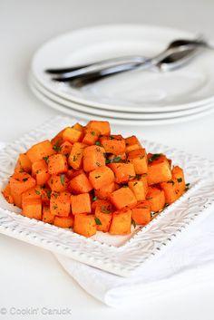 5-Ingredient Roasted Butternut Squash with Smoked Paprika   cookincauck.com #vegetarian #Thanksgiving #vegan