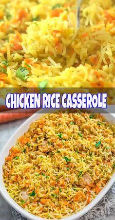 CHICKEN RICE CASSEROLE #casserole #chicken #rice