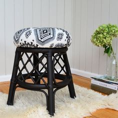 This post will tech you how to reupholster a stool or any chair, the easy way, with this simple, step by step technique.