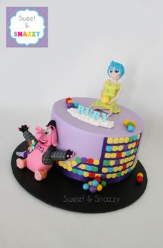 Inside Out Cake - with Bing Bong and Joy - by Sweet & Snazzy https://www.facebook.com/sweetandsnazzy