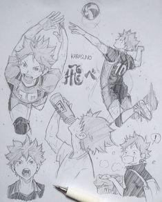 Hinata, Drawing Sketches, Art Drawings, Pencil Drawings, Haikyuu, Anime Character Drawing, Anime Sketch, Yellow Flowers, Anime Characters