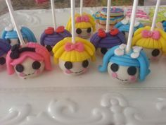 lalaloopsy cake pops by CoutureSweetTreats on Etsy