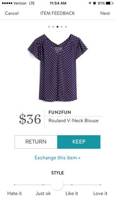 Stitch Fix Spring 2018 Fun2Fun V neck Blouse Your first $20 styling fee is waived when you sign up using this referral link! :)