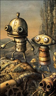 Even though it's been years since I finished Machinarium, little bits and pieces regularly pop up in my mind: a snippet of amazing background music here, an awesome wrench-bodied robot there.The art drew me in, of course, and it's what kept me playing, eager to make it to the next screen and pore over the background, taking in each little touch in the new area.