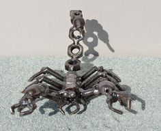 SCORPION 5 inches Scrap Metal Art by ScrapSculptures on Etsy