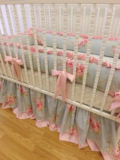 Last One-Crib Bedding MADE TO ORDER Baby Bedding- Last One. $369.00, via Etsy.