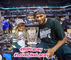 #riplacey she's the biggest spartan fan out there and Adrean Payne's best friend and biggest fan