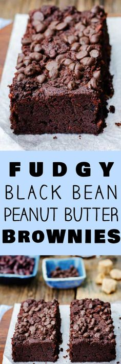 This is the best Fudgy Black Bean Brownies recipe there is! I've won a baking contest with these brownies! These easy to make brownies are made with canned black beans and peanut butter making them extra fudgy and more healthy than the usual brownie. I lo Mini Desserts, Healthy Desserts, Just Desserts, Delicious Desserts, Dessert Recipes, Healthy Brownie Recipes, Kosher Desserts, Blueberry Desserts, Healthy Brownies