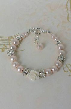 Pulseras de perlas pulsera bebé pulsera Perla bebé muchacha