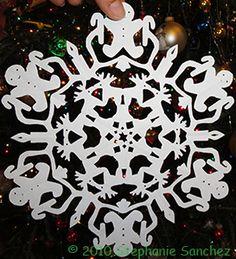 Gingerbread Man Paper Snowflake