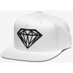 Brilliant Snapback in White (160 RON) ❤ liked on Polyvore featuring accessories, hats, white snapback, white hat, snap back hats, white snapback hats and snapback hats