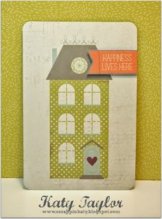 An Inside to my Heart...: Happiness Lives Here...Card using Avonlea PML