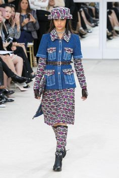 Karl Lagerfeld presents his latest designs.