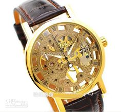 Cheap new Luxury men gold Fashion watches, leather belts, transparent mechanical watch mens watches. US $26.16 - 47.79 / Piece