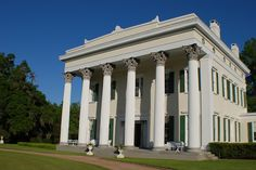 A grand view of the Corinthian columns of Millford :: Greek Revival plantation in North Carolina