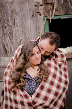 Alli & Ev Rustic Barn Engagement Session  Photo By LuRey Photography