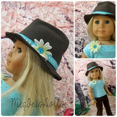 Hey, I found this really awesome Etsy listing at https://www.etsy.com/listing/200547457/18-doll-american-girl-doll-fedora-hat