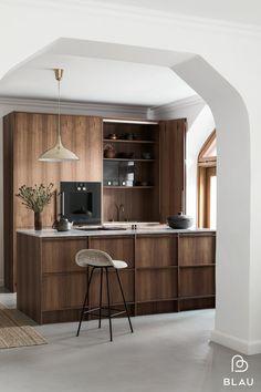 Blau blogi — BLAU Interior - Helsinki Interior Desing, Interior Design Photography, Interior Design Kitchen, Helsinki, Timber Kitchen, Hidden Kitchen, Küchen Design, Cool Kitchens, Kitchen Remodel