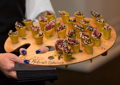 Food & Drinks Ice cream isn't the only thing that can be served in a cone — pass trays of tuna tartar in waffle cones. Tuna Tartar, Reception Food, Wedding Reception, Waffle Cones, Party Dishes, Food Stations, Cream Wedding, Food Design, Food Presentation